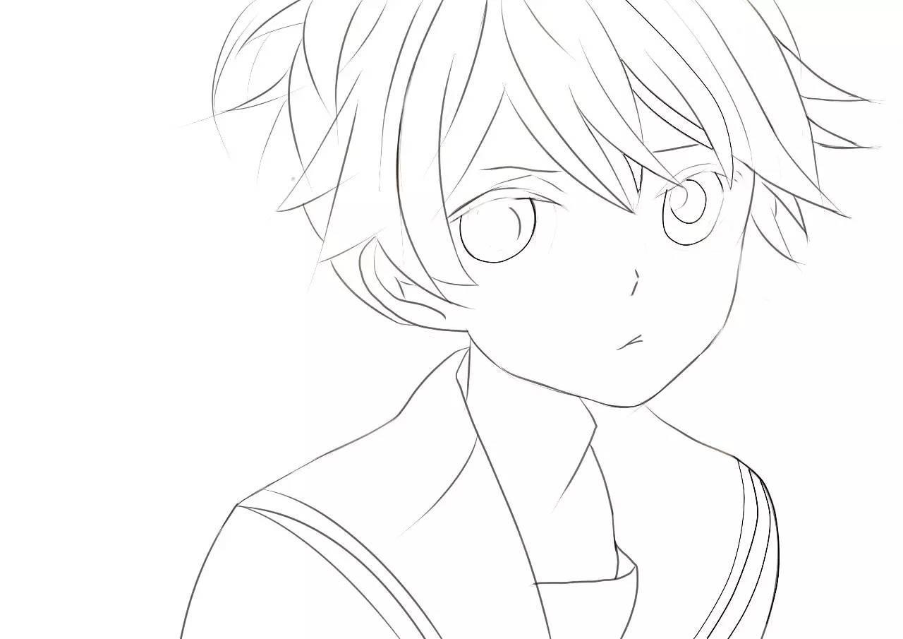 如何画一个男孩子~(@^_^@)~